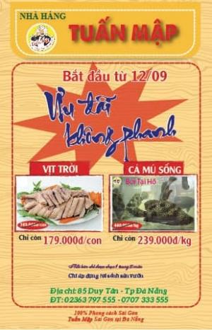 Nhà hàng Tuấn Mập Đà Nẵng mở cửa trở lại vào ngày 12.9